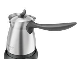 GÖVDE Paslanmaz çelik. Arzum Cezve Türk Kahvesi Robotu Siyah Parlak.