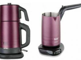 Fakir River Violet Çay Kahve Makinesi 800 W 300 ml su kapasitesi Kahve kapasitesi 4 fincan Poşet çay ve bitkisel çay hazırlayabilme Su olmadan çalışmasını engelleyen koruma sistemi 360 derece dönüş fonksiyonu Kısa sürede su kaynatma Fakir River Çay Makinesi (Violet) 1600 Watt Güç Demlik malzemesi paslanmaz çelik Demlik kapasitesi 1,1 Litre Su ısıtıcı Haznesi paslanmaz çelik Sıcak tutma fonksiyonu Çay Süzgeci paslanmaz çelik